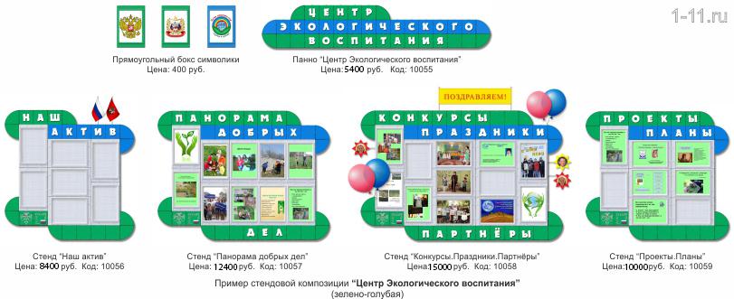 Оформление центра экологического воспитания