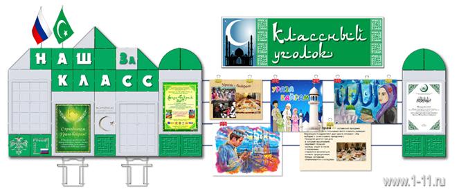 Классный уголок для школ с исламским уклоном