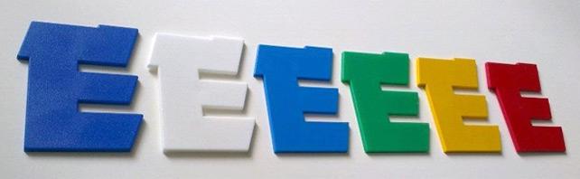 Цветные буквы для стендов