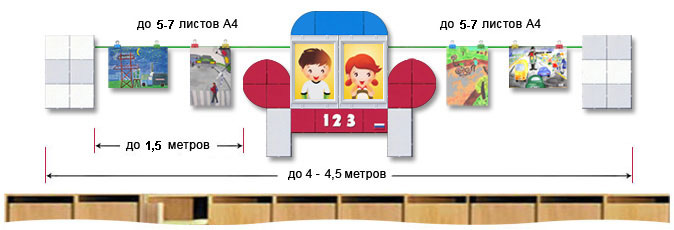 Оформление выставки детского рисунка в начальных школах, ДОУ