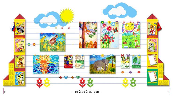Оформление выставки рисунков в начальной школе