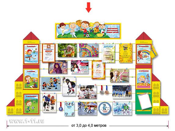 Оформление уголка творчества, достижений детей на предприятии, в учреждении, организации
