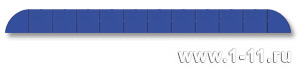 Полу-панно сборное синее