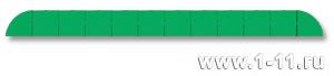 Полу-панно сборное зеленое
