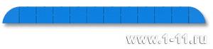 Полу-панно сборное голубое