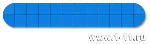 Панно сборное голубое
