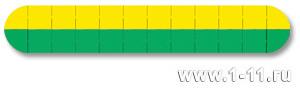 Панно сборное желто-зеленое