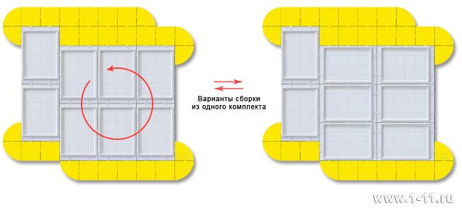 Изменение ориентации ячеек