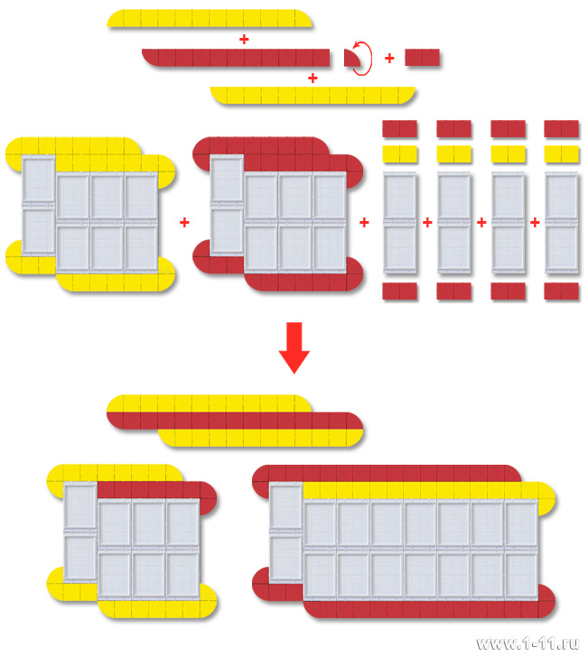 Пример подбора двухцветной стендовой композиции