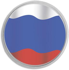 Символика России. Флаг. Круглый бокс