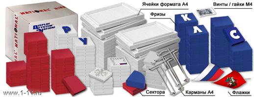 Оформление класса начальной школы. Стенд-конструктор NATIONAL, комплектующие, упаковка.