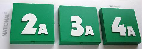 Сменные блоки с номером и литерой класса