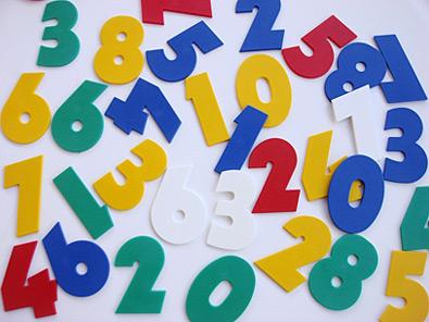 Цифры для номеров класса