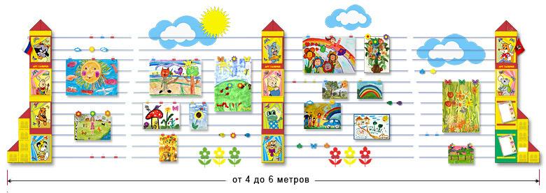 Оформление выставки рисунков в начальных классах