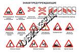 Предупреждающие дорожные знаки в картинках