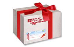 Подарочная коробка с наклейкой для стенда